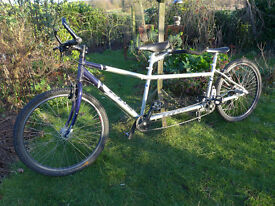 """Tandemania Alite KHS (MTB tandem) 15"""" front and 12"""" back collection IP28 6DA"""