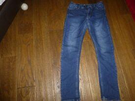 Boys Next adjustable waist skinny jeans good used condition Age 14