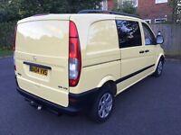 2004 Mercedes Vito 109 Cdi 2.2 Diesel,Dualiner CREW CAB 6 Seater,kombi,Compact TAX and MOT Transit