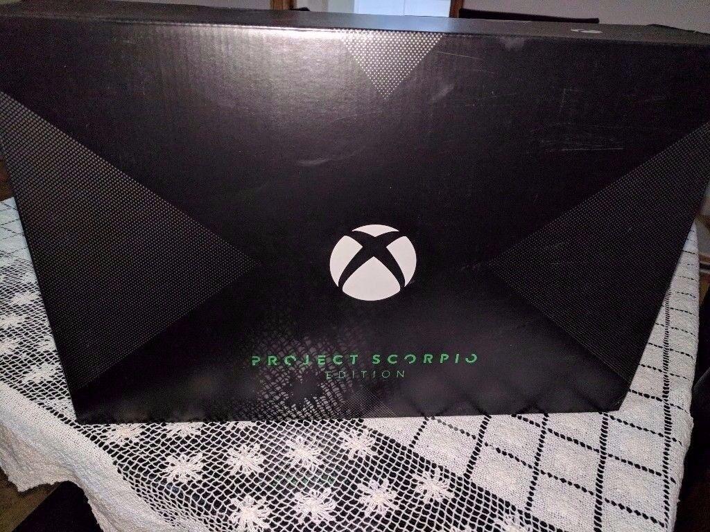 BNIB and Sealed Xbox One X Scorpio Edition