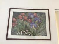 Iris Garden framed print 33 x 25 ins