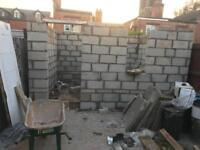 LOOKING FOR BUILDING WORK, GARDEN WORK.CONCERT WORK AND BRICKS WORK