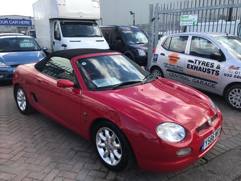 Y Mgf Convertible Softop Red Mg Owners Club Car Lots Of History Very Tidy