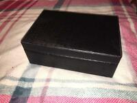 Black weave patterned jewellery box