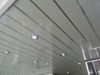 white/silver stripe ceiling panels 2.7m length