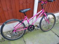 UNIVERSAL RAPID REACTOR GIRLS PINK MOUNTAIN BIKE, NICE CONDITION, BARGAIN £20, CAN DELIVER