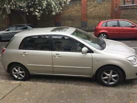 I have Toyota Corolla in silver for sale with full service history and genuine low mileage