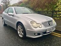 2005 Mercedes C180 Kompressor Auto Coupe. Facelift. Full MOT Drives Superb