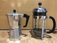 Moka Pot (Espresso Maker) and Bodum Chambord 51 Ounce French Press