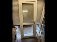 Upvc door with frame, like new could deliver