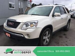 2010 GMC Acadia SLT / 7 PASS / DVD / LEATHER / CLEAN CARPROOF