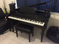 Digital Baby Grand Piano - gear4music GDP-200 (ALMOST NEW) including stool and headphones