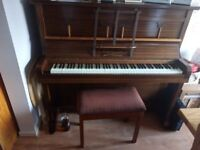 Upright piano. £300 without the stool. Moving &Downsizing