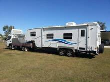 Cutloose 8 Mtr 5th Wheeler & 2010 FE 83 Fuso Canter Tow Vehicle Mount Low Townsville Surrounds Preview