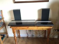 Bang & Olufsen Beocenter 2200 Turntable/tape player, Beogram CDX cd player/radio, 2x Beovox speakers
