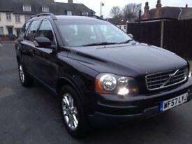 Black Volvo xc90 Automatic 2,4 diesel, seven seats , black leather interior,