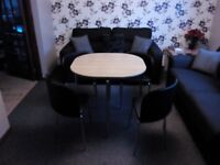 Hygena table and 4 chairs