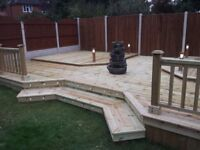 Decking and landscaping services.