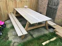 Picnic, garden, bench table seating furniture