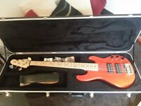 G&L L-2500 5 string active bass (USA) (swamp ash, maple) + Schaller strap locks + Crossrock bass bag