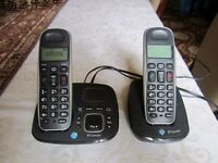 BT twin cordless phone and answer machine