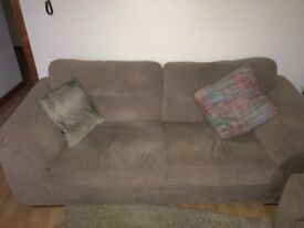 2 seater couch ,single seat and footstool