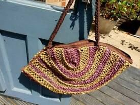 Pretty straw bag