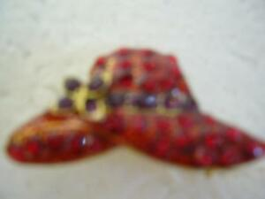 RED HAT SOCIETY BROOCH
