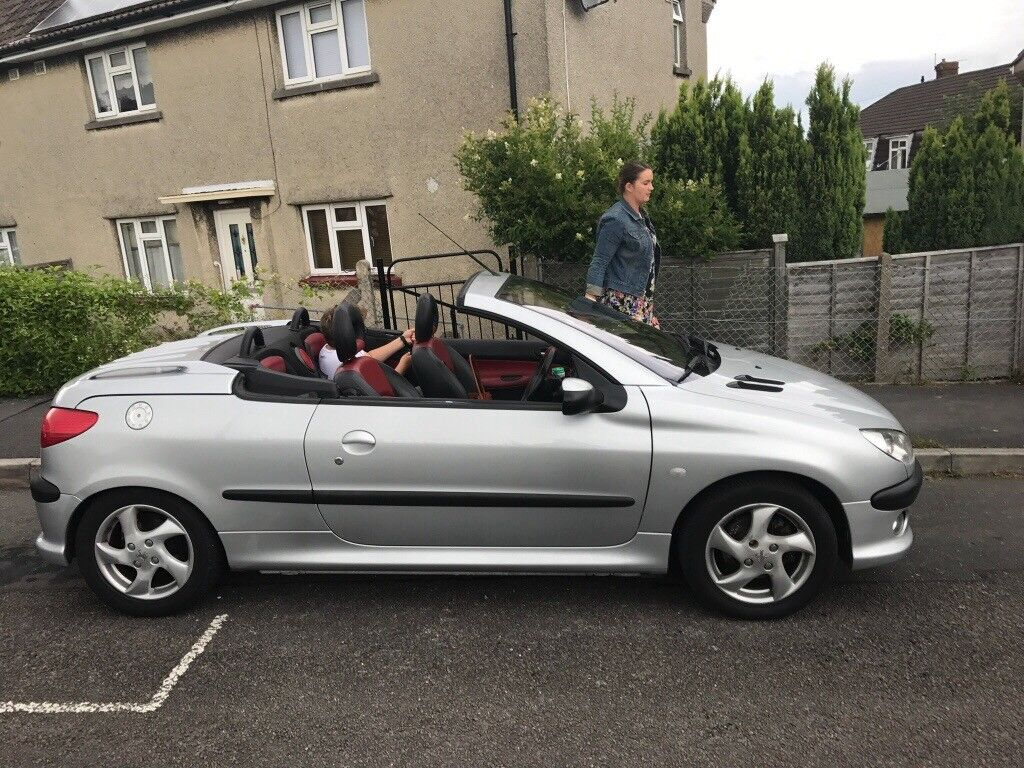 peugeot 206 cc leather interior hard top in portishead bristol gumtree. Black Bedroom Furniture Sets. Home Design Ideas