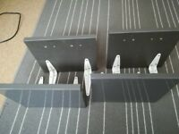 4 x small grey shelves with brackets