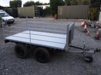 trailer twin axle galvanised, 2 ton capasity.
