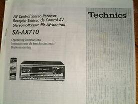 Technics SA-AX710 AV Receiver