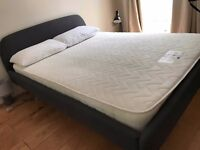 Charcoal double bed (with mattress offered) - EXCELLENT CONDITION