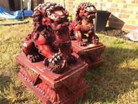 Chinese Lion Guards for door (£50 ONO)