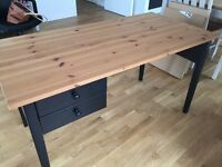 Good quality stylish oak desk