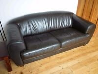 Classic real leather sofa. Absolute bargain at just £100. Cost £800+