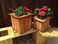 2 x planters , handmade and treated , free delivery