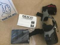Knee brace MVP small right brand new carbon fibre knee brace new in box .
