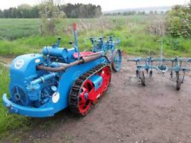 Ransomes MG5 crawler with plough and cultivator