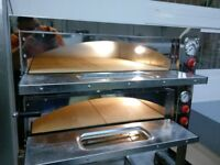 "Electric Double Pizza Oven, Commercial, 8x13"" pizza, 1 year Warranty, Single/3 phases, 48hr delivery"