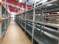 10 bays APEX industrial long span shelving AS NEW( pallet racking , storage )
