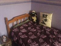 Great Conditon Pine Single Bed/Mattress