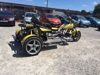 2011 Road Legal 1500CC 3 Seater Trike FULL MOT LOW MILES QUICK SALE NEEDED