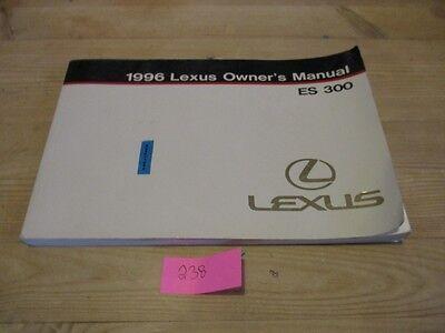 Lexus ES 300 1996 Owners Manual LHD