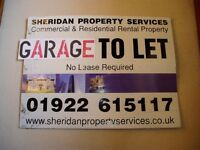 Lock up Garage £15pw. 24/7 Access. Security Post, Painted NO LEASE req'd. By Landywood Train Station