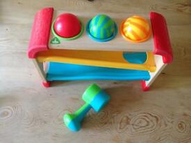 ELC wooden roller rack toy