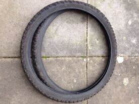 MOUNTAIN BIKE TYRES 26 X 210 GOOD CONDITION
