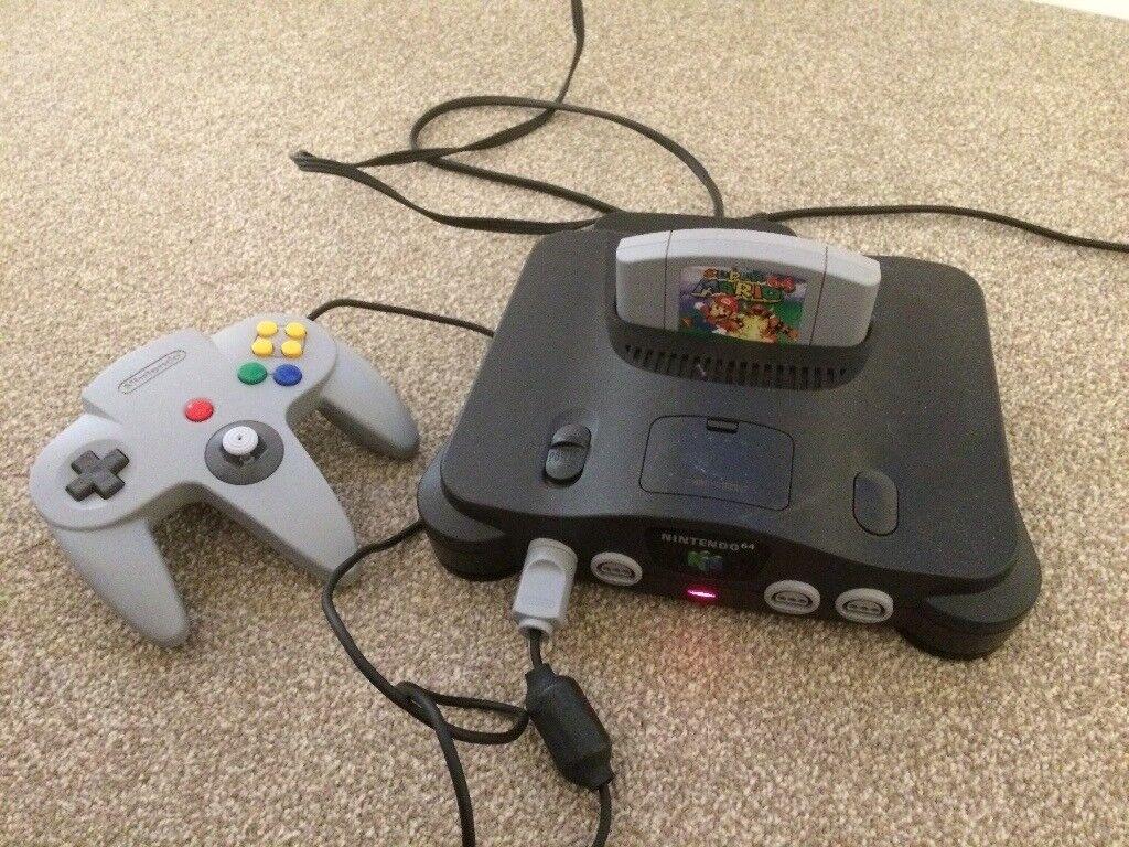 Nintendo 64 (N64) plus super mario 64