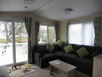 Static Mobile Holiday Home. Lakeside position on Hoburne Cotswold. 4 berth. New Decking/Veranda.