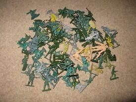 Plastic Soldier Figures x 104